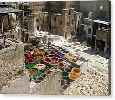 Fes Leather Treatment And Coloring  Acrylic Print by Ali ArtDesign