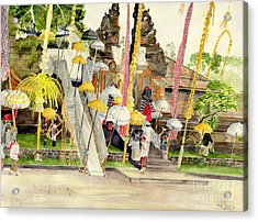 Festival Hindu Ceremony Acrylic Print by Melly Terpening
