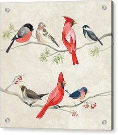 Festive Birds I Acrylic Print by Danhui Nai