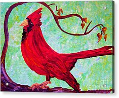 Festive Cardinal Acrylic Print