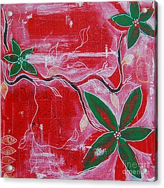 Acrylic Print featuring the painting Festive Garden 2 by Jocelyn Friis