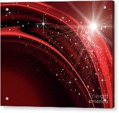 Festive Holiday Background  Acrylic Print by Sandra Cunningham