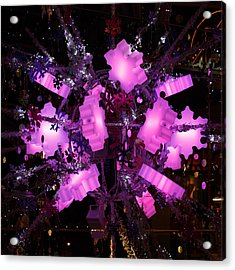 Acrylic Print featuring the photograph Festive Lights by Paul Indigo