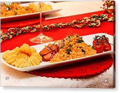 Acrylic Print featuring the photograph Festive Lobster Tail by Paul Indigo