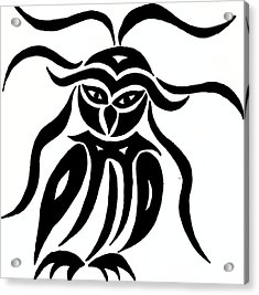 Festive Owl Acrylic Print by Beth Akerman