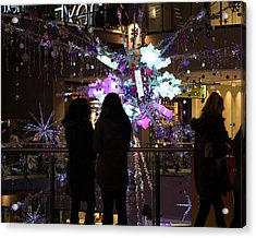 Acrylic Print featuring the photograph Festive Season Shopping by Paul Indigo