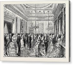 Festivities At Fishmongers Hall, The Court Dining Room Acrylic Print by English School