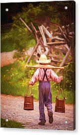Fetch A Pail Of Water - Artistic Acrylic Print by Chris Bordeleau