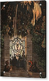 Feu D Artifice Acrylic Print by Konstantin Andreevic Somov
