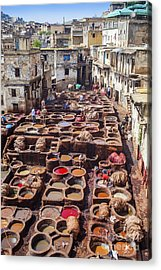 Fez Tannery Acrylic Print by Patricia Hofmeester