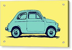 Fiat 500 Acrylic Print by Giuseppe Cristiano
