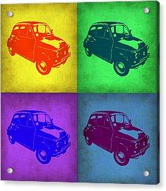 Fiat 500 Pop Art 1 Acrylic Print by Naxart Studio