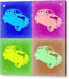 Fiat 500 Pop Art 2 Acrylic Print by Naxart Studio