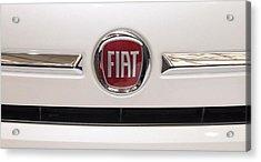 Fiat Logo Acrylic Print by Valentino Visentini