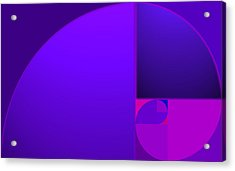Fibonacci Blue Acrylic Print