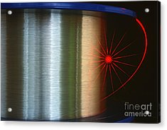 Fibre Optic Coil Acrylic Print by James L. Amos