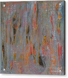 Acrylic Print featuring the painting Fibres Of My Being by Mini Arora