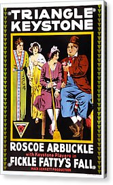 Fickle Fattys Fall, Us Poster Acrylic Print by Everett