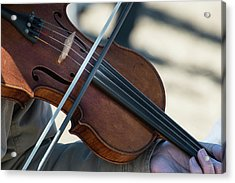 Fiddle Being Played (large Format Sizes Acrylic Print by Sheila Haddad