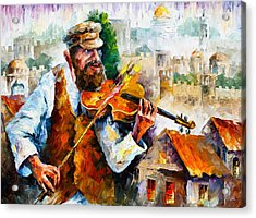 Fiddler  In Jerusalem 2 New Acrylic Print