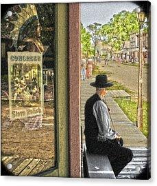 Fiddler On The Street Acrylic Print