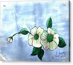 Field Flowers Acrylic Print by Francine Heykoop