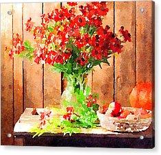 Field Flowers Acrylic Print by Yury Malkov