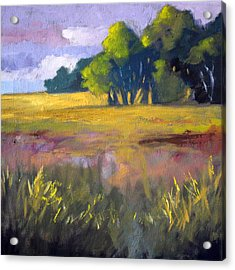 Field Grass Landscape Painting Acrylic Print