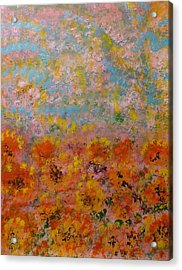 Field Of Color Acrylic Print by Rich Mason