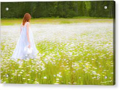 Field Of Dreams Acrylic Print by Theresa Tahara