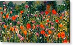 Field Of Flowers Acrylic Print by Kendall Kessler
