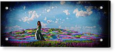 Field Of Flowers... Acrylic Print by Tim Fillingim