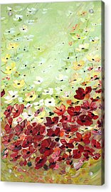 Acrylic Print featuring the painting Field Of Poppies by Dorothy Maier