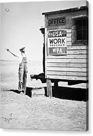 Field Office Of The Wpa Government Agency Acrylic Print