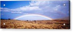 Field, Rainbow, Hawaii, Usa Acrylic Print