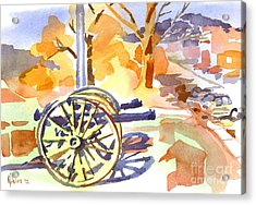 Field Rifles In Watercolor Acrylic Print by Kip DeVore