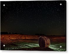 Fields At Night Acrylic Print