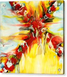 Fierce Cross Encaustic Acrylic Print by Pattie Calfy