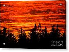 Fiery Alaskan Sunset Acrylic Print by Paul Karanik