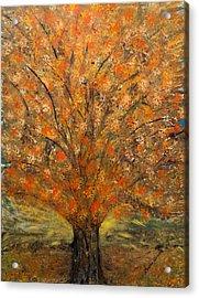 Fiery Autumn Acrylic Print