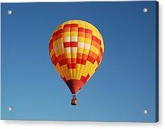 Fiery Balloon Acrylic Print by Miguelito B