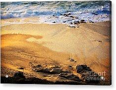 Acrylic Print featuring the photograph Fiery Beach by Ellen Cotton