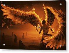 Fiery Acrylic Print