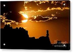 Fiery Desert Sky Acrylic Print