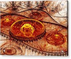 Fiery Fantasy Landscape Acrylic Print by Martin Capek