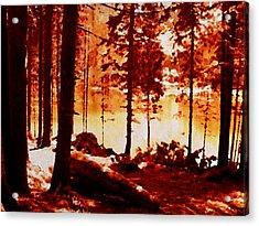Fiery Red Landscape Acrylic Print