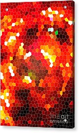 Fiery Red Stained Glass Acrylic Print by Gaspar Avila
