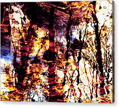 Fiery Reflections Acrylic Print by Shawna Rowe