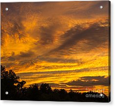Acrylic Print featuring the photograph Fiery Skies by Dale Nelson