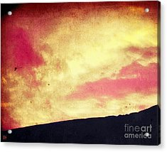 Fiery Sky Acrylic Print by Andy Heavens